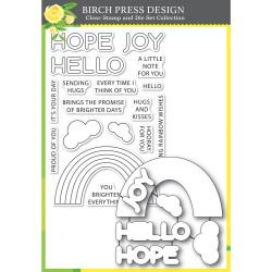 Rainbow Days Lingo Notes, Birch Press Design Stamp & Die Set -