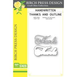 Handwritten Thanks and Outline, Birch Press Design Dies -