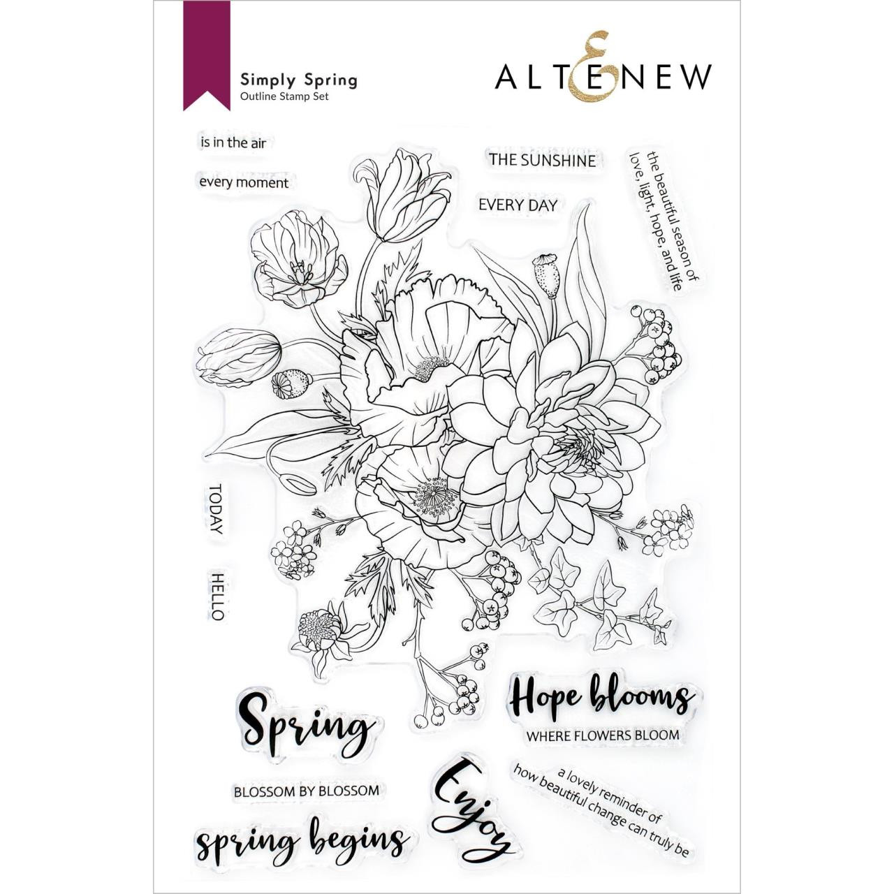 Simply Spring, Altenew Clear Stamps -
