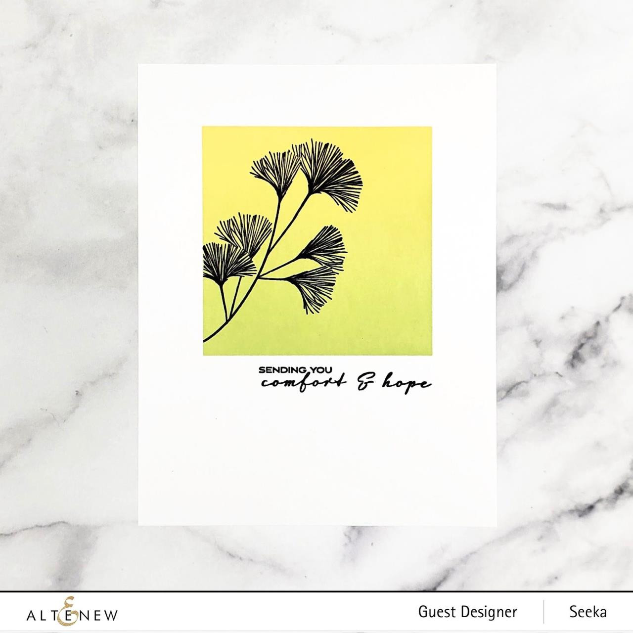 Sweet Gingko, Altenew Clear Stamps -