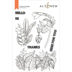 Tropical Jungle, Altenew Clear Stamps -