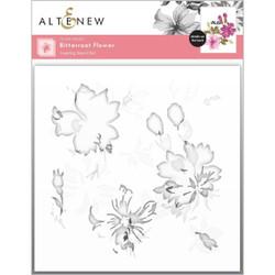 Bitterroot Flower, Altenew Stencils -