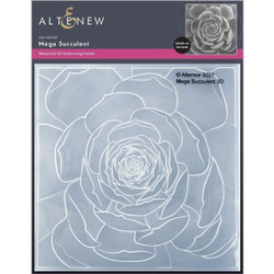 Mega Succulent 3D, Altenew Embossing Folder -
