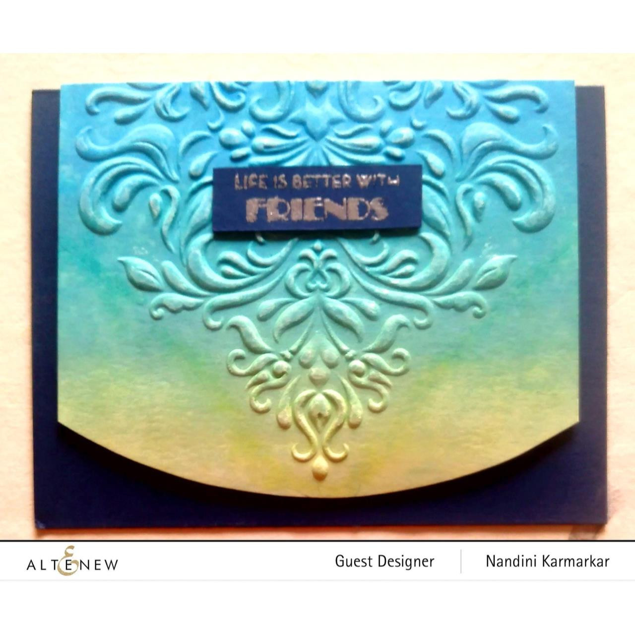 Beautiful Baroque 3D, Altenew Embossing Folder -