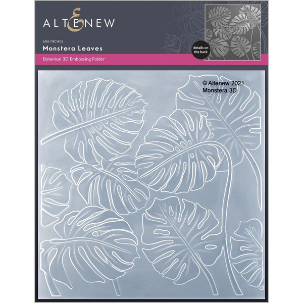 Monstera Leaves 3D, Altenew Embossing Folder -