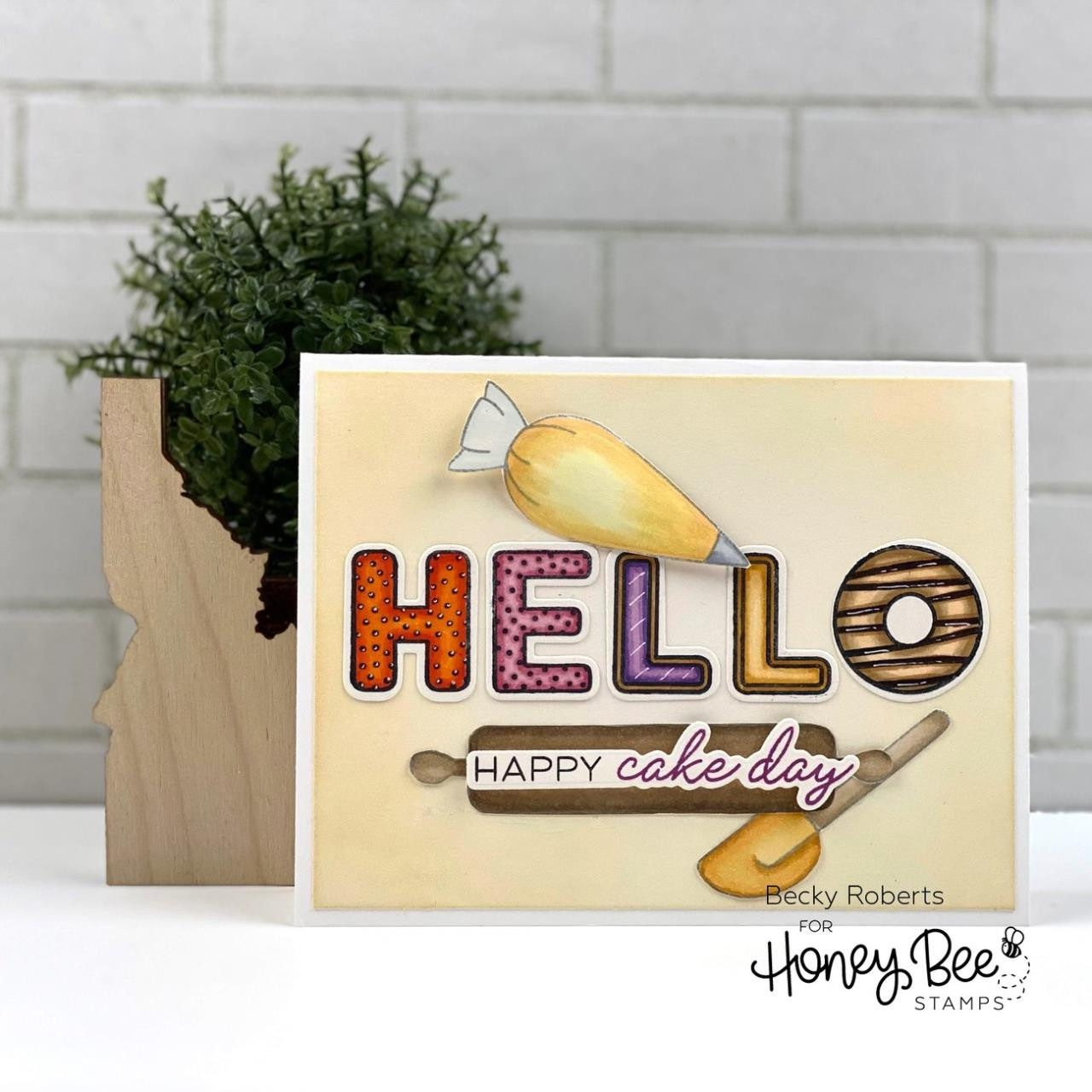 Baked With Love, Honey Bee Clear Stamps -