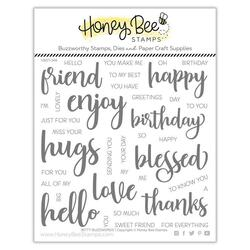 Bitty Buzzwords, Honey Bee Clear Stamps -