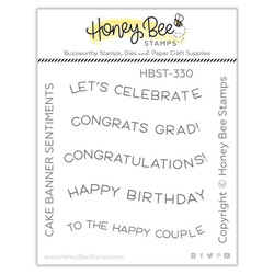 Cake Banner Sentiments, Honey Bee Clear Stamps -