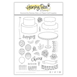 Fancy Frosting, Honey Bee Clear Stamps -