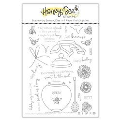 Just BEEcause, Honey Bee Clear Stamps -