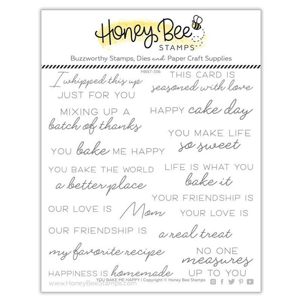 You Bake Me Happy, Honey Bee Clear Stamps -