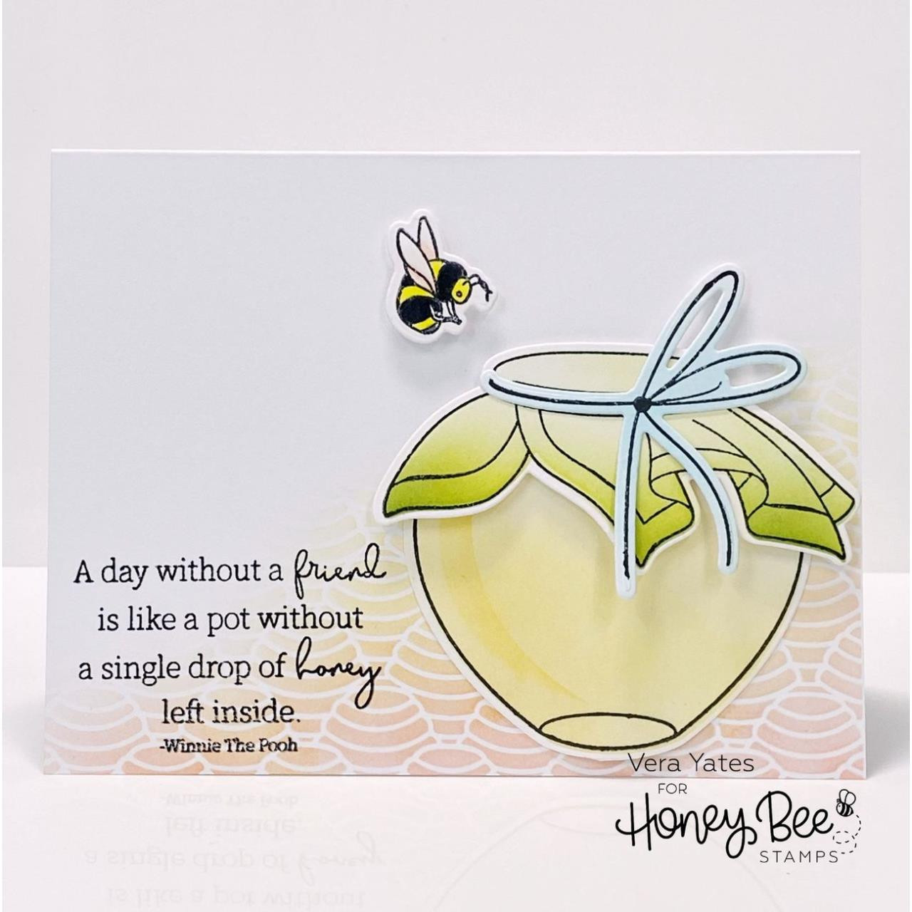Honey Dipper Background, Honey Bee Stencils -