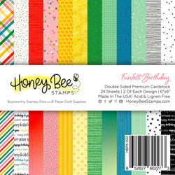 Funfetti Birthday, Honey Bee 6 X 6 Paper Pad -