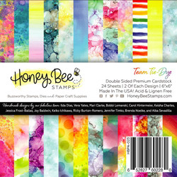 Team Tie-Dye, Honey Bee 6 X 6 Paper Pad -