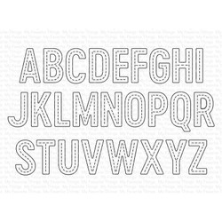 In Stitches Alphabet, My Favorite Things Die-Namics -