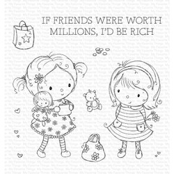 Million Dollar Friends by Rachelle Anne Miller, My Favorite Things Clear Stamps -