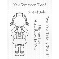 Pure Innocence - Goal Getter, My Favorite Things Clear Stamps -
