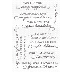 Right at Home, My Favorite Things Clear Stamps -