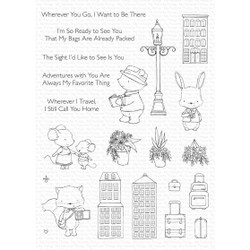Travel Plans by Stacey Yacula, My Favorite Things Clear Stamps -