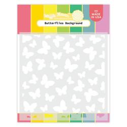 Butterflies Background, Waffle Flower Stencils -
