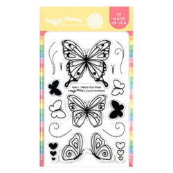 Spread Your Wings, Waffle Flower Clear Stamps -