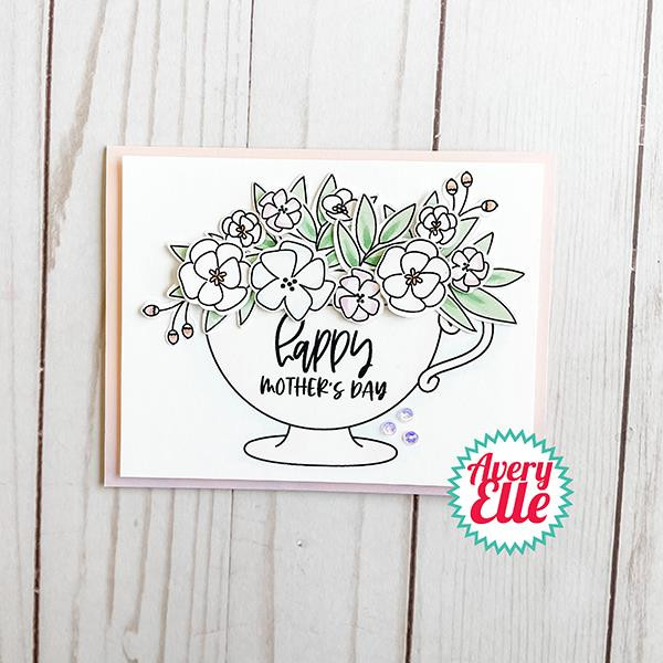 Cup of Wishes, Avery Elle Clear Stamps -