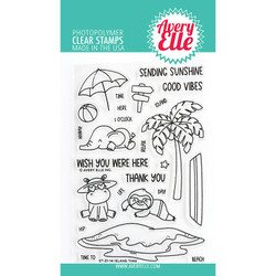 Island Time, Avery Elle Clear Stamps -