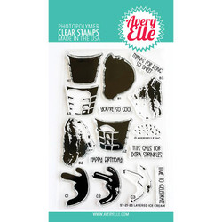 Layered Ice Cream, Avery Elle Clear Stamps -