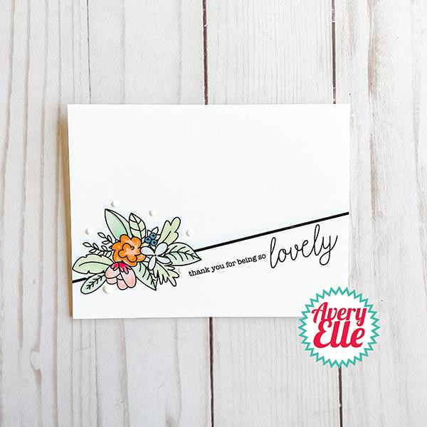 Lovely, Avery Elle Clear Stamps -