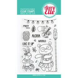 Luau, Avery Elle Clear Stamps -