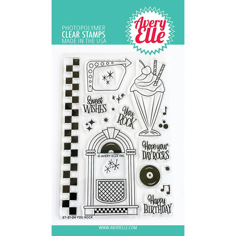 You Rock, Avery Elle Clear Stamps -