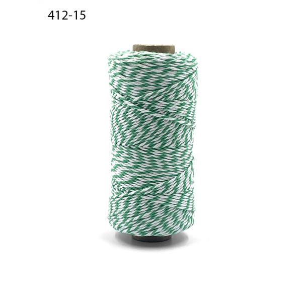 Baker's Twine Twisted Ribbon - Green, May Arts -