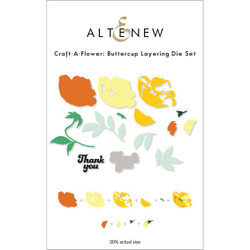 Craft-A-Flower: Buttercup, Altenew Dies -