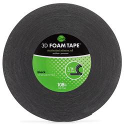 iCraft 3D Foam Tape Jumbo Roll - Black 1/16 in. -