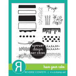 Have Your Cake, Reverse Confetti Clear Stamps -