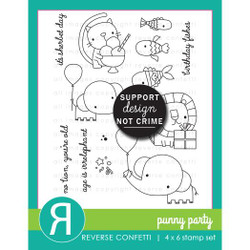 Punny Party, Reverse Confetti Clear Stamps -