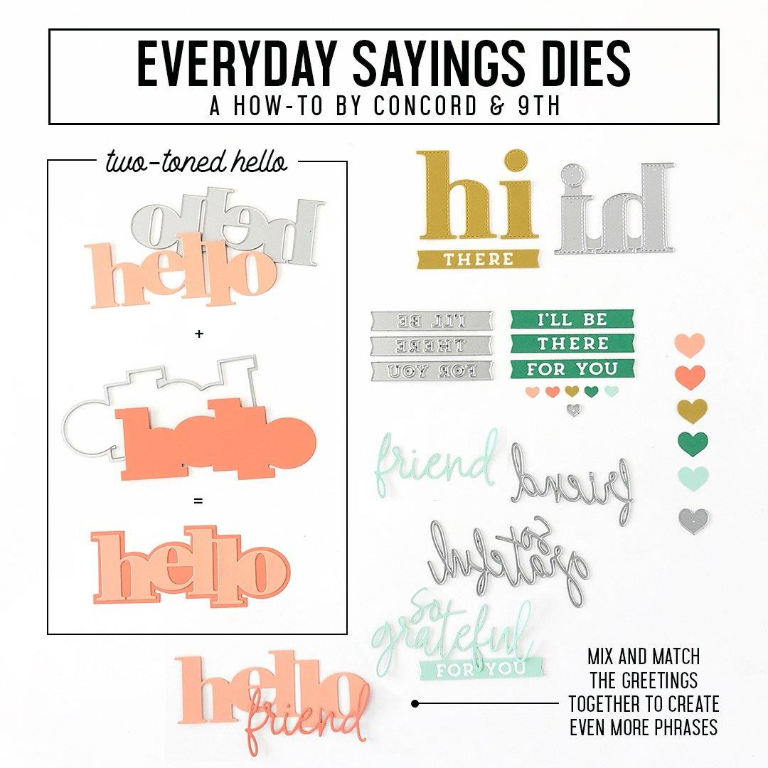 Everyday Sayings, Concord & 9th Dies -