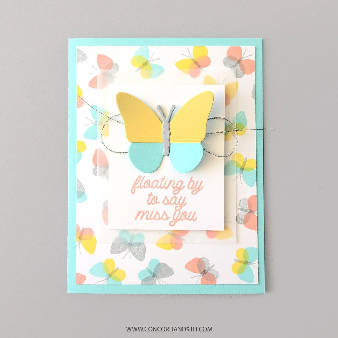 Fluttering By Turnabout, Concord & 9th Clear Stamps -
