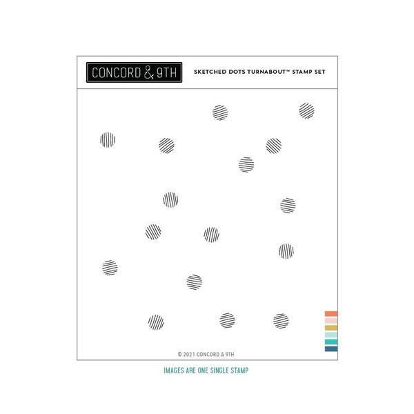 Sketched Dots By Turnabout, Concord & 9th Clear Stamps -