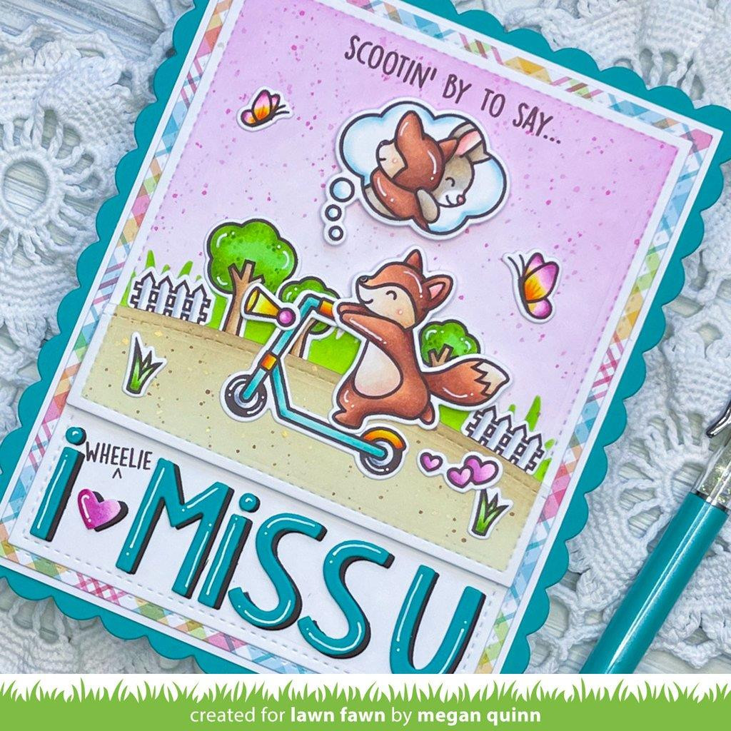 Scootin' By, Lawn Fawn Clear Stamps -