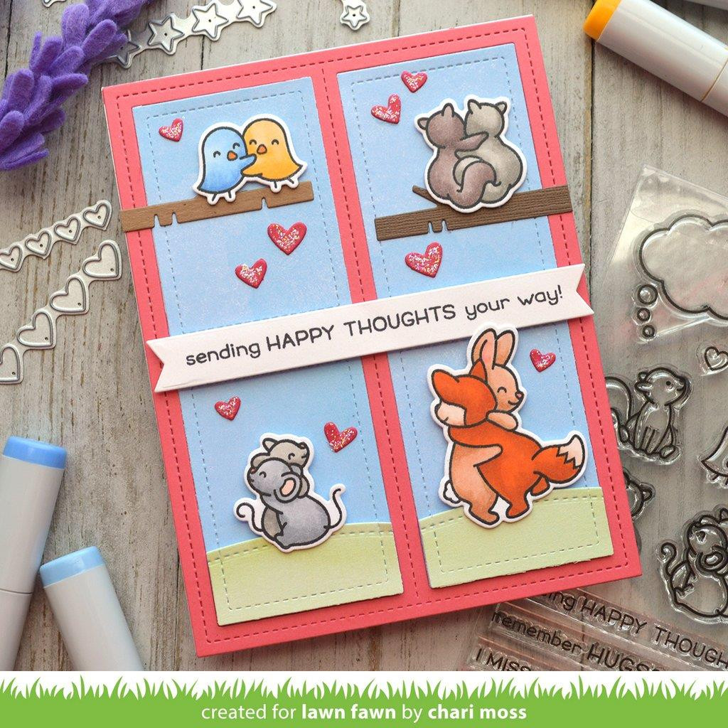 Happy Hugs, Lawn Fawn Clear Stamps -