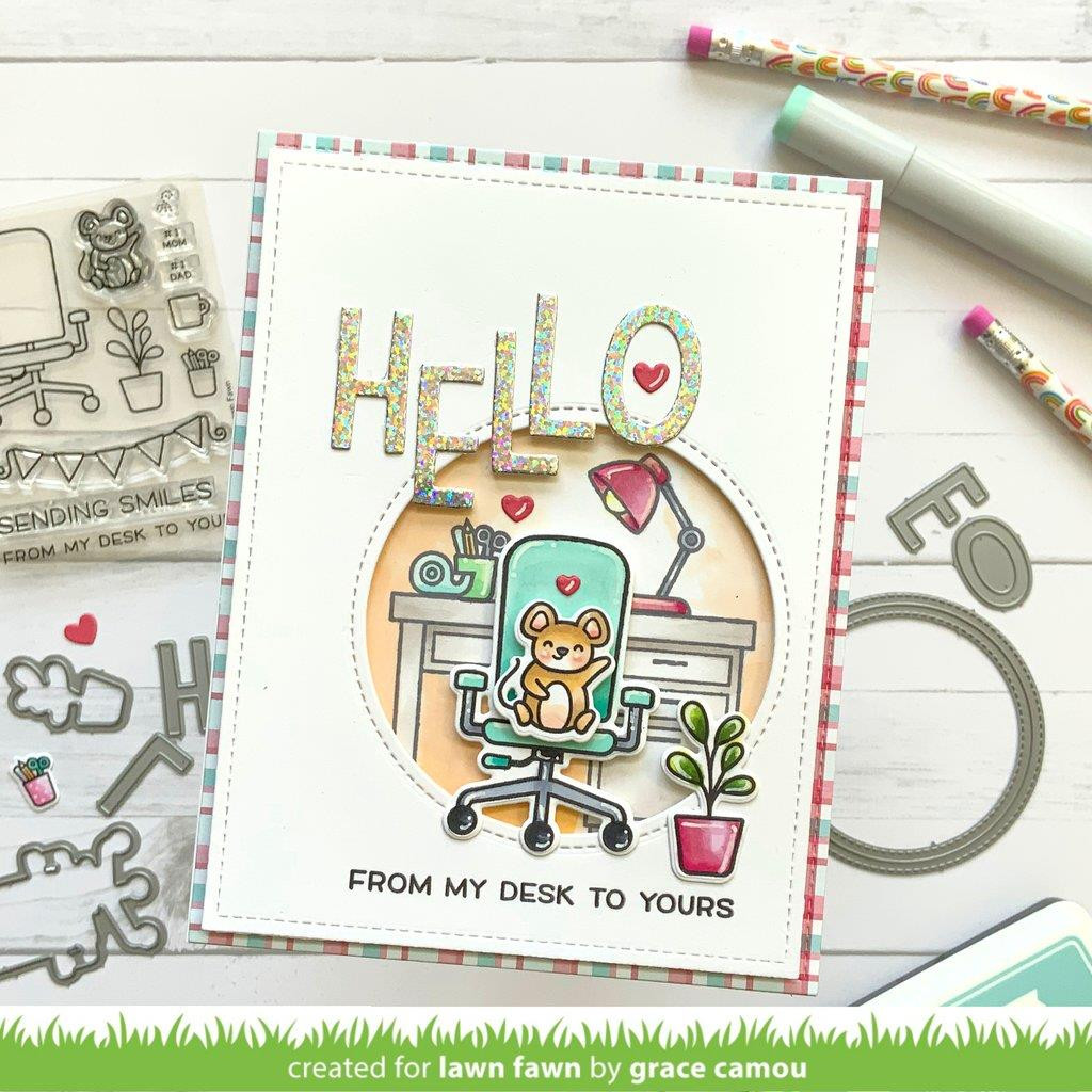Virtual Friends Add-On, Lawn Fawn Clear Stamps -