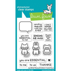 Say What? Masked Critters, Lawn Fawn Clear Stamps -