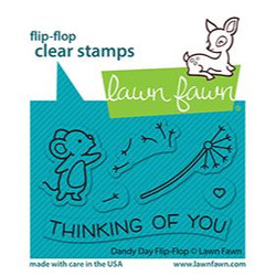Dandy Day Flip-Flop, Lawn Fawn Clear Stamps -