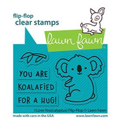 I Love You (Calyptus) Flip-Flop, Lawn Fawn Clear Stamps -