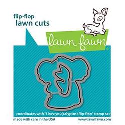 I Love You (Calyptus) Flip-Flop, Lawn Cuts Dies -