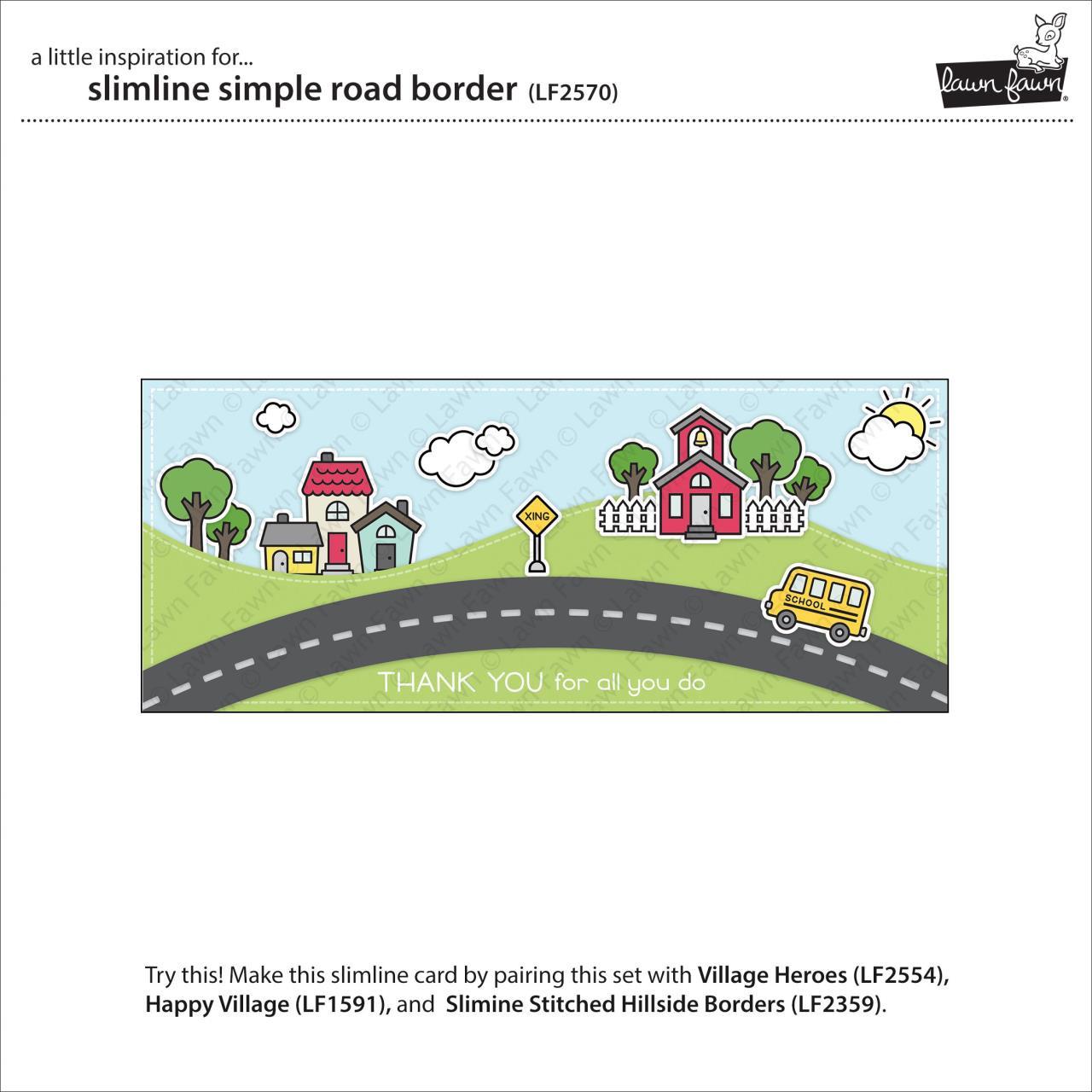 Slimline Simple Road Border, Lawn Cuts Dies -