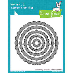 Just Stitching Scalloped Circles, Lawn Cuts Dies -