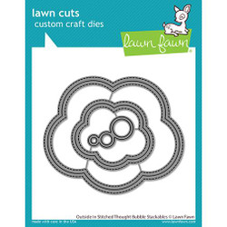 Outside In Stitched Thought Bubble Stackables, Lawn Cuts Dies -