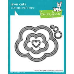 Stitched Thought Bubble Frames, Lawn Cuts Dies -